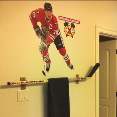 repurpose old hockey sticks
