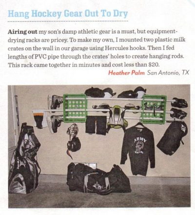 dry and hang your hockey gear