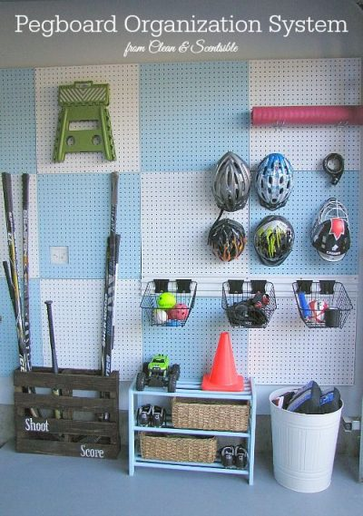 Dry And Hang Your Hockey Gear With A Pegboard And Hooks
